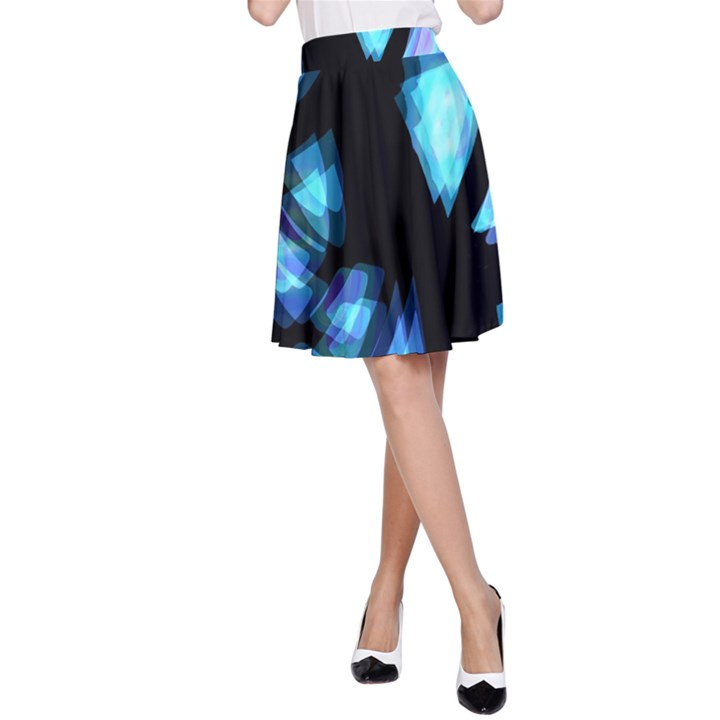 Blue light A-Line Skirt