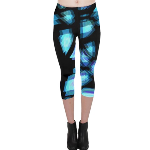 Blue light Capri Leggings