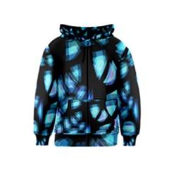 Blue light Kids  Zipper Hoodie