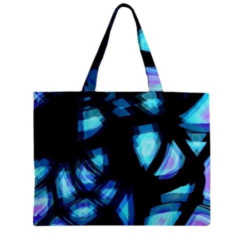 Blue light Zipper Mini Tote Bag