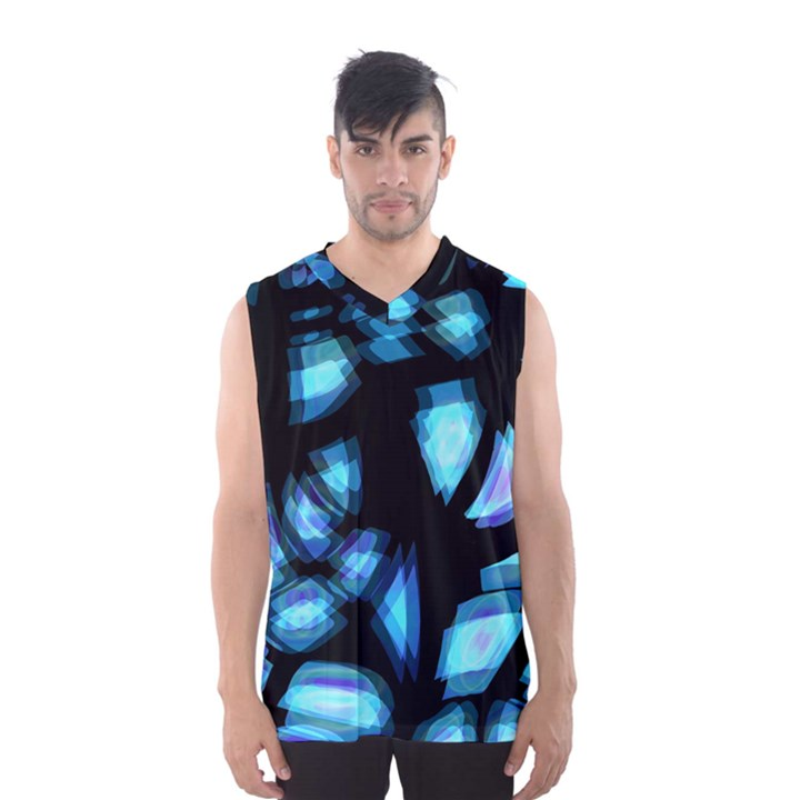 Blue light Men s Basketball Tank Top