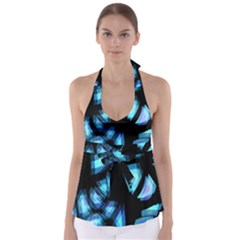 Blue light Babydoll Tankini Top