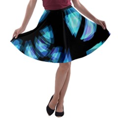 Blue light A-line Skater Skirt