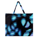 Blue light Zipper Large Tote Bag View1