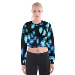 Blue light Women s Cropped Sweatshirt