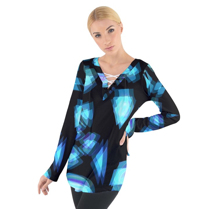 Blue light Women s Tie Up Tee