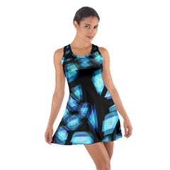 Blue Light Cotton Racerback Dress