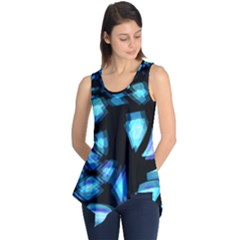 Blue Light Sleeveless Tunic