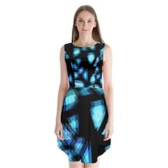 Blue Light Sleeveless Chiffon Dress