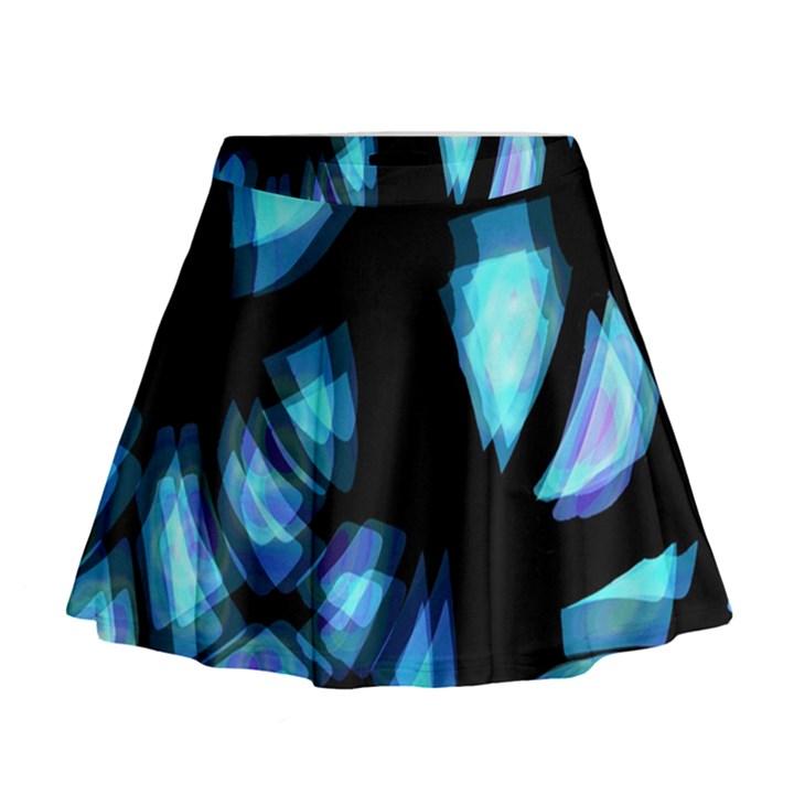 Blue light Mini Flare Skirt