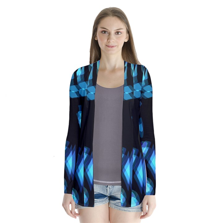 Blue light Drape Collar Cardigan