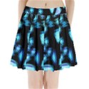Blue light Pleated Mini Skirt View1