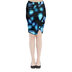 Blue light Midi Wrap Pencil Skirt