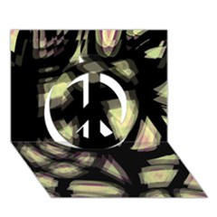 Follow the light Peace Sign 3D Greeting Card (7x5)