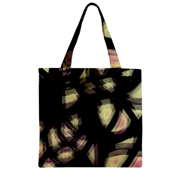 Follow the light Zipper Grocery Tote Bag