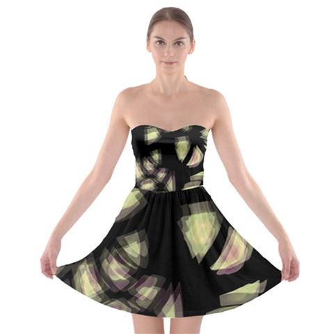Follow the light Strapless Bra Top Dress
