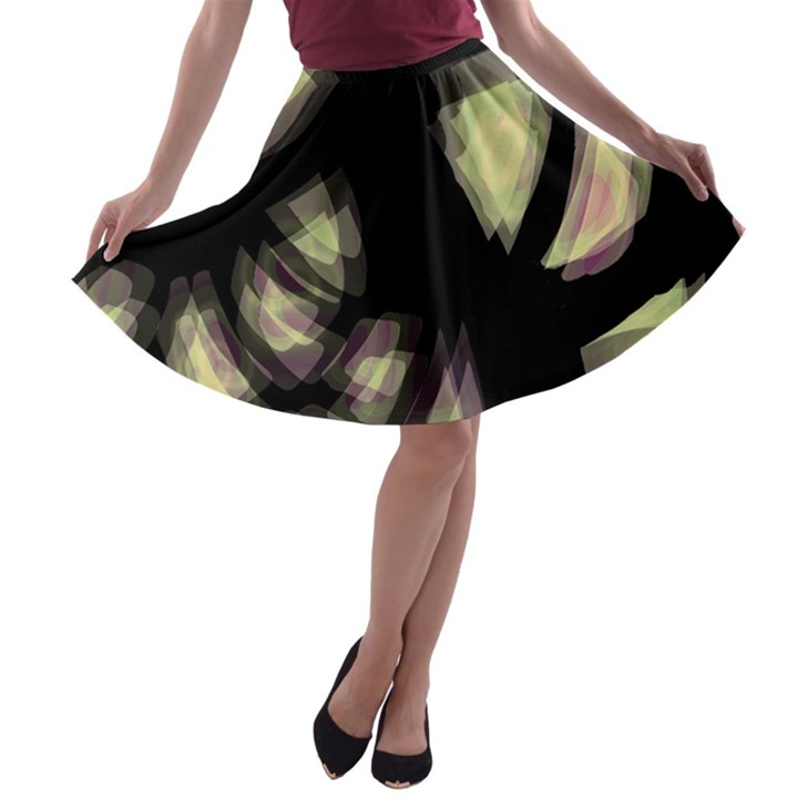 Follow the light A-line Skater Skirt