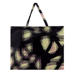 Follow the light Zipper Large Tote Bag
