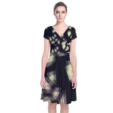 Follow the light Short Sleeve Front Wrap Dress