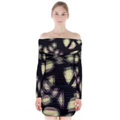Follow the light Long Sleeve Off Shoulder Dress