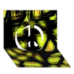 Yellow light Peace Sign 3D Greeting Card (7x5)