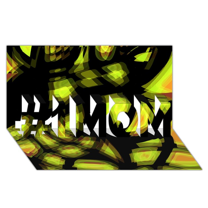 Yellow light #1 MOM 3D Greeting Cards (8x4)