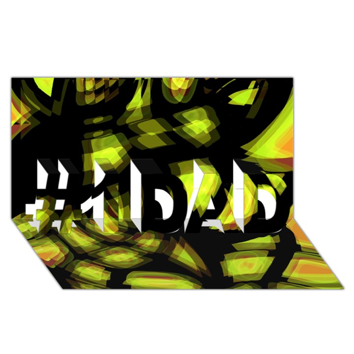 Yellow light #1 DAD 3D Greeting Card (8x4)