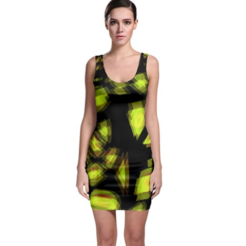 Yellow light Sleeveless Bodycon Dress