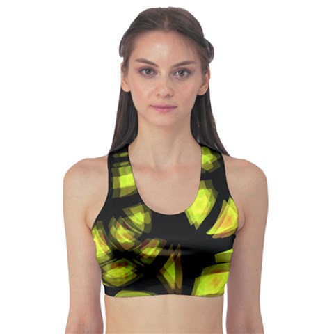 Yellow light Sports Bra