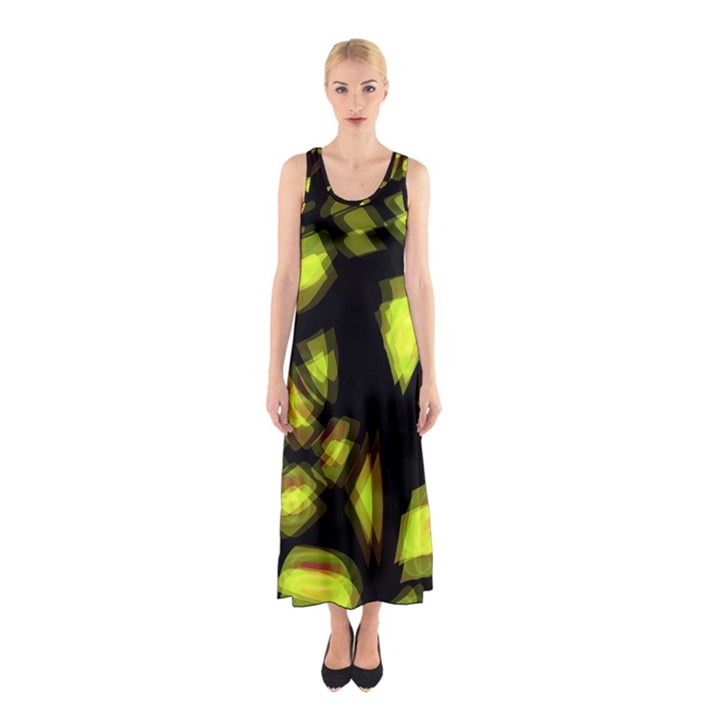 Yellow light Sleeveless Maxi Dress