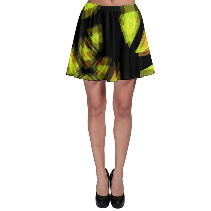 Yellow light Skater Skirt