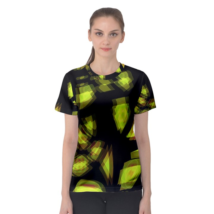 Yellow light Women s Sport Mesh Tee