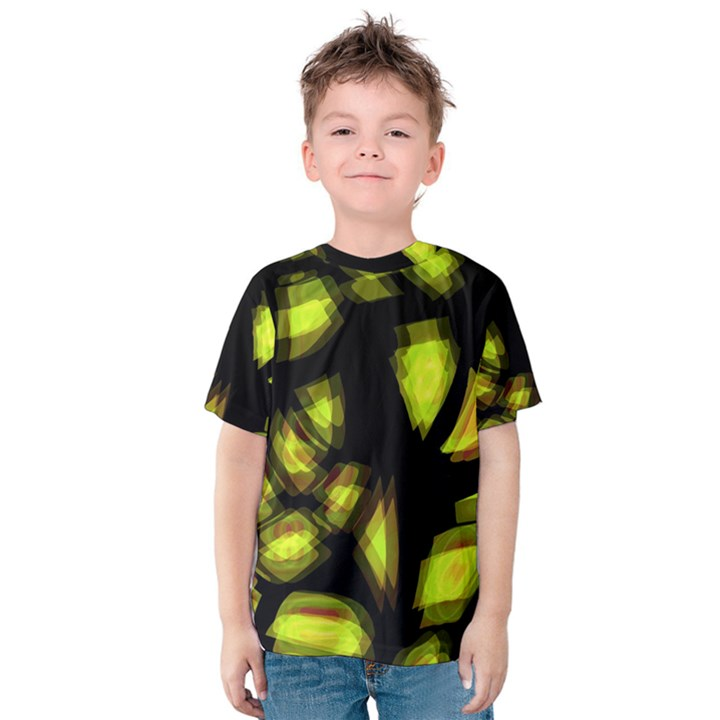 Yellow light Kids  Cotton Tee