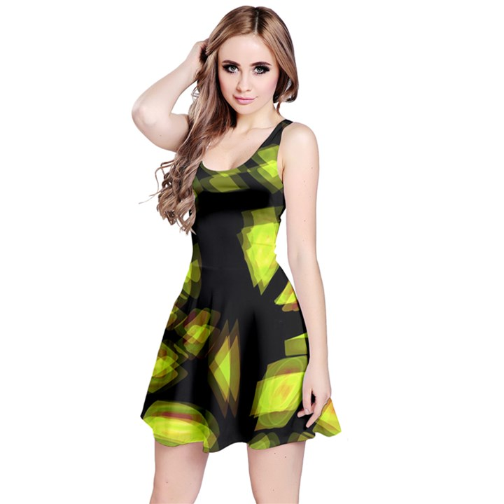 Yellow light Reversible Sleeveless Dress