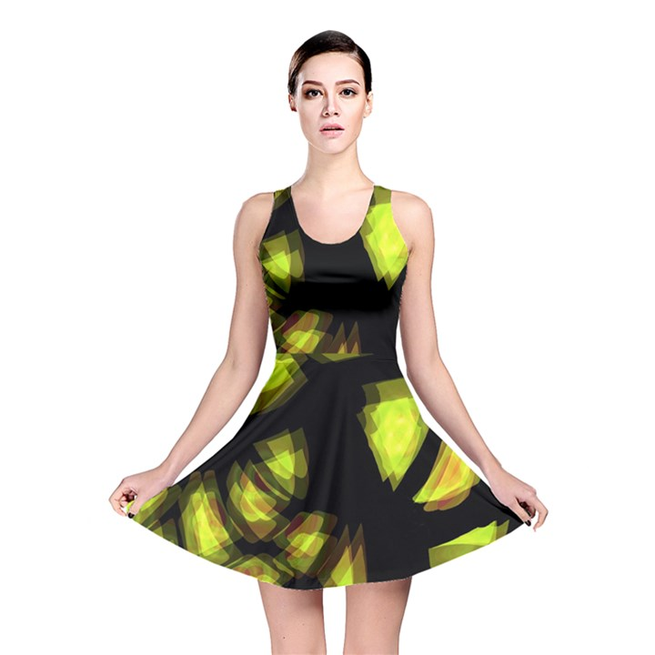 Yellow light Reversible Skater Dress
