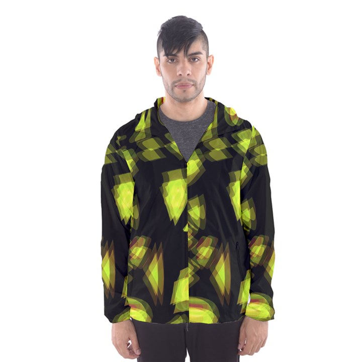 Yellow light Hooded Wind Breaker (Men)