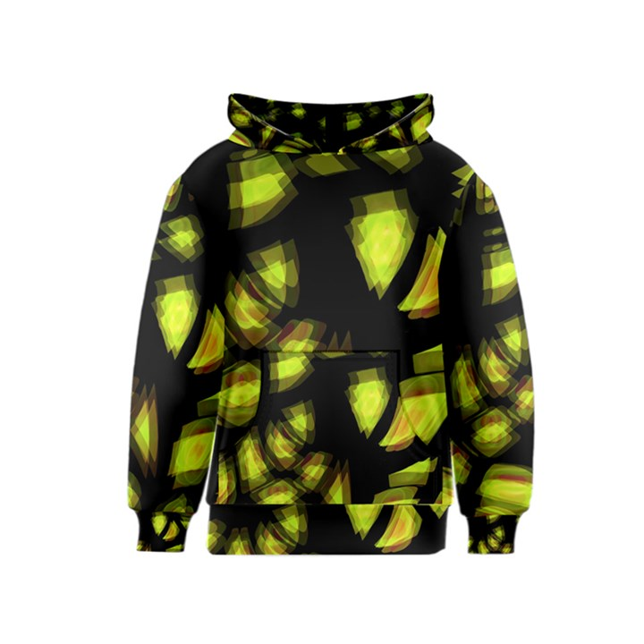 Yellow light Kids  Pullover Hoodie