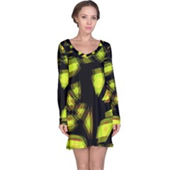 Yellow light Long Sleeve Nightdress