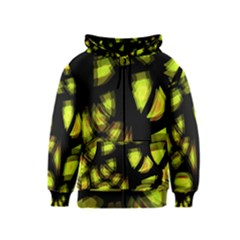 Yellow Light Kids  Zipper Hoodie