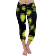 Yellow light Capri Winter Leggings