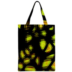 Yellow Light Zipper Classic Tote Bag