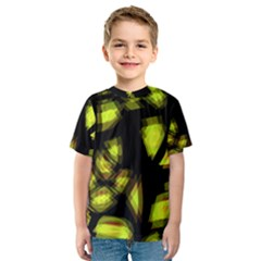 Yellow light Kids  Sport Mesh Tee