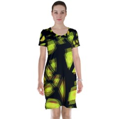 Yellow light Short Sleeve Nightdress