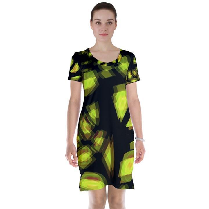Yellow light Short Sleeve Nightdress