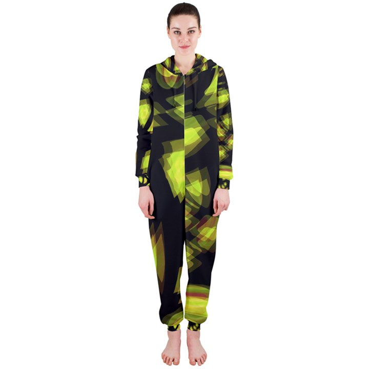 Yellow light Hooded Jumpsuit (Ladies)