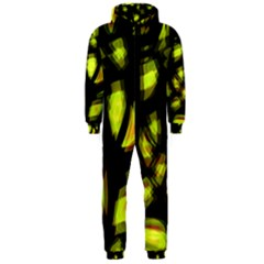 Yellow light Hooded Jumpsuit (Men)