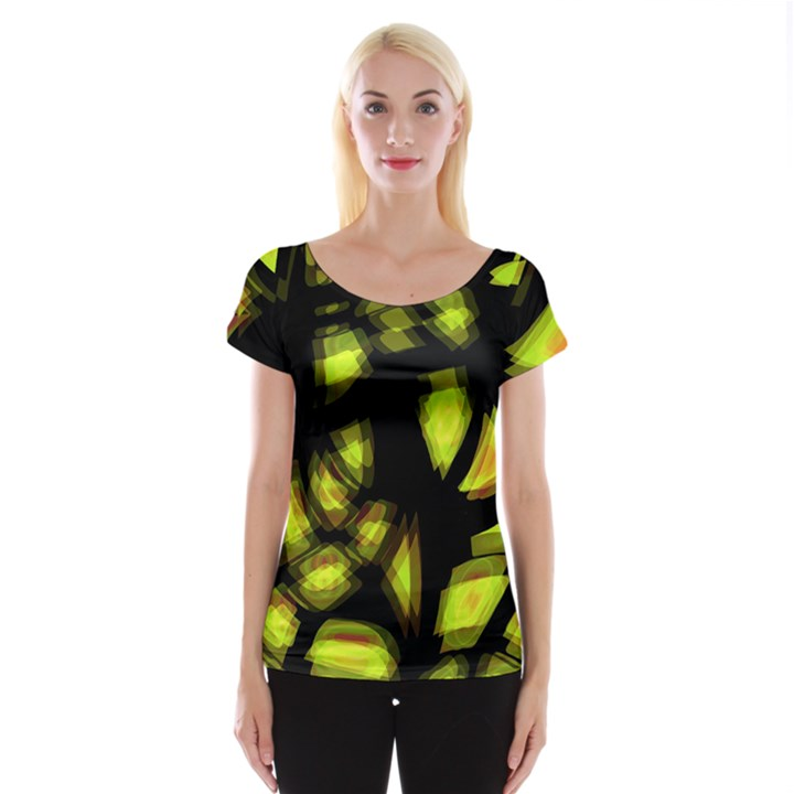 Yellow light Women s Cap Sleeve Top