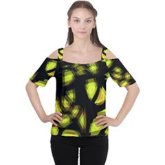 Yellow light Women s Cutout Shoulder Tee