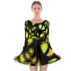 Yellow Light Long Sleeve Skater Dress