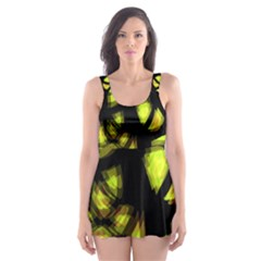 Yellow light Skater Dress Swimsuit